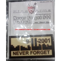 Patch Never Forget 911 TAN Plastificata 9/11/2001