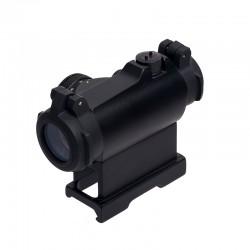 FOCUHUNTER DOT T2 Tactical Reflex 1×24mm Rosso DOT 11 Brightness Softair Mirino per Fucile 20mm Rail Moun
