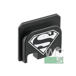 GunsModify  CNC Rear Plate for Marui G-Series Airsoft Slide cover Superman