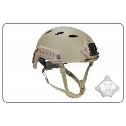 FAST Helmet PJ Carbon Fiber Version FMA Colore TAN Elmentto in fibra di carbonio Per Airsoft
