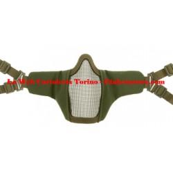 Mk.II Steel Half Face Mask Invader Gear Machera di protezione a rete per Airsoft OD