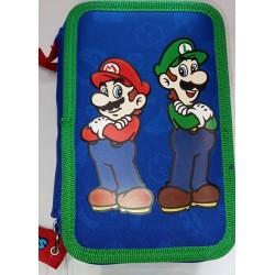 Astuccio portapenne a 3 cerniere Completo Super Mario