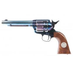 Umarex SAA .45 Co2 (GK Custom 6mm Version) Metal Revolver - Cowboy Police Version (Blue / Brown)  Airsoft 6mm