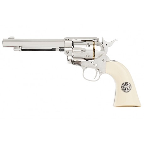Umarex SAA .45 Co2 (GK Custom 6mm Version) Metal Revolver (Nickel Pearl) - Cowboy Police Version
