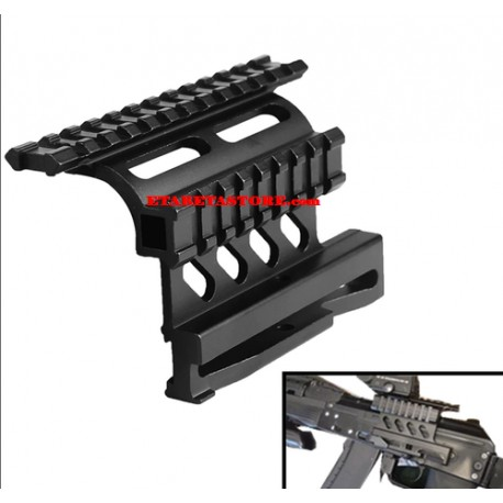AK QD Side Rail Optics / Scope Mount with Double Rail Pirate Arms