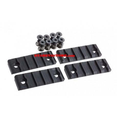 AABB 5-Slot Polymer Rail for KeyMod ( Black ) AB277-BK