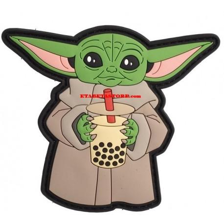 Baby Yoda Bubble Tea Patch Airsoftology
