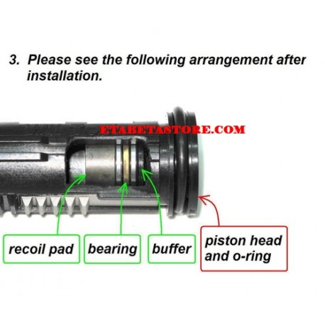 One-way Bearing Piston Head, Recoil Shock System M4 Series Tokyo Marui Next GEN
