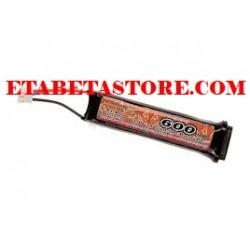 LiPo 7.4V 600mAh Tokyo Marui AEP Battery VB Power per pistole elettriche